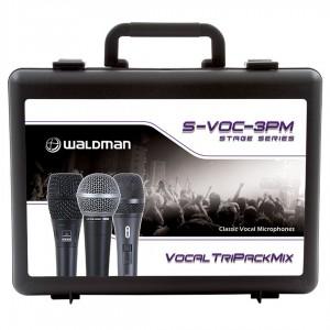 Kit com 3 Microfones Profissionais contendo 2 Clássicos Americanos e 1 Clássico Alemão S-VOC-3PM WALDMAN