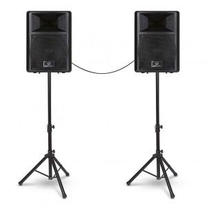 """Kit de Áudio com 2 Caixas de 10"""" com cabos e pedestais FLEX KIT WALDMAN"""