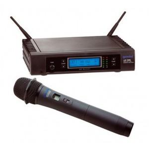 Sistema de Microfone Sem Fio Wireless 128 canais  Microfone Bastão UZ 1128 M GEMINI