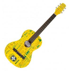 Violão de Aço Oficial da Seleção Brasileira Amarelo ACU-1/CBF WALDMAN