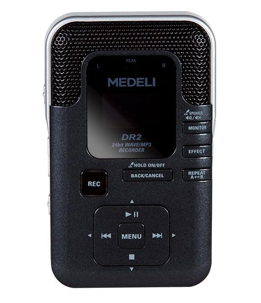 Gravador Digital DR2 com USB cartão de memória Alto falante embutido MEDELI