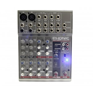 Mixer Analógico com Efeito 2 XLR E 4 Estéreo AM 105FX PHONIC
