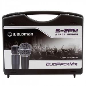 Kit com 2 Microfones Cardióides Linha Stage S 570 e S 580  WALDMAN