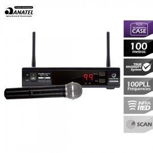 Sistema Wireless Sem Fio 100 Canais UHF UC1100PL  WALDMAN