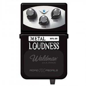 PEDAL WALDMAN PARA GUITARRA, METAL LOUDNESS MOD. MTL-3R, LINHA ROAD FX